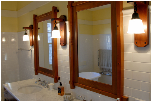 Custom Built Mission Style Vanity Craftsman Bathroom Vanities And Sink